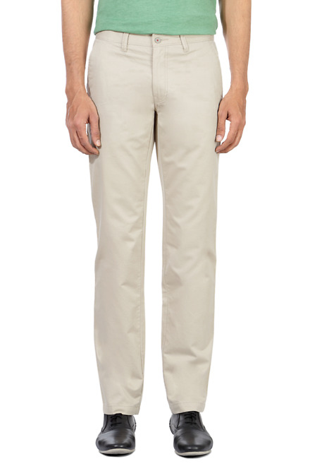 Flat Front Casual Trousers