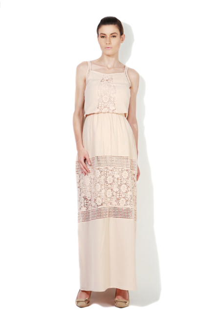 Peach maxi dress online india