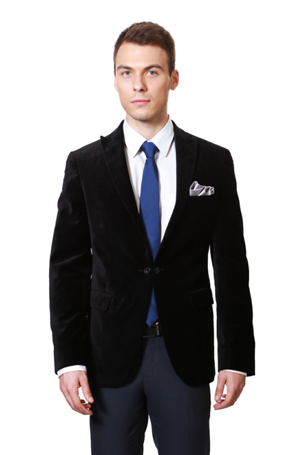 Peter England Black Euro Fit Blazer