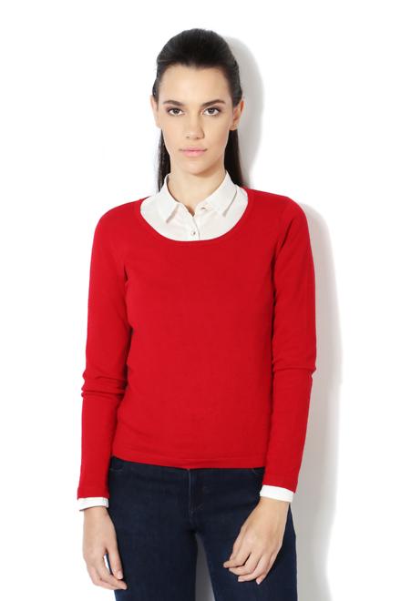 Van Heusen Woman Sweaters & Cardigans, Van Heusen Red Sweater for ...