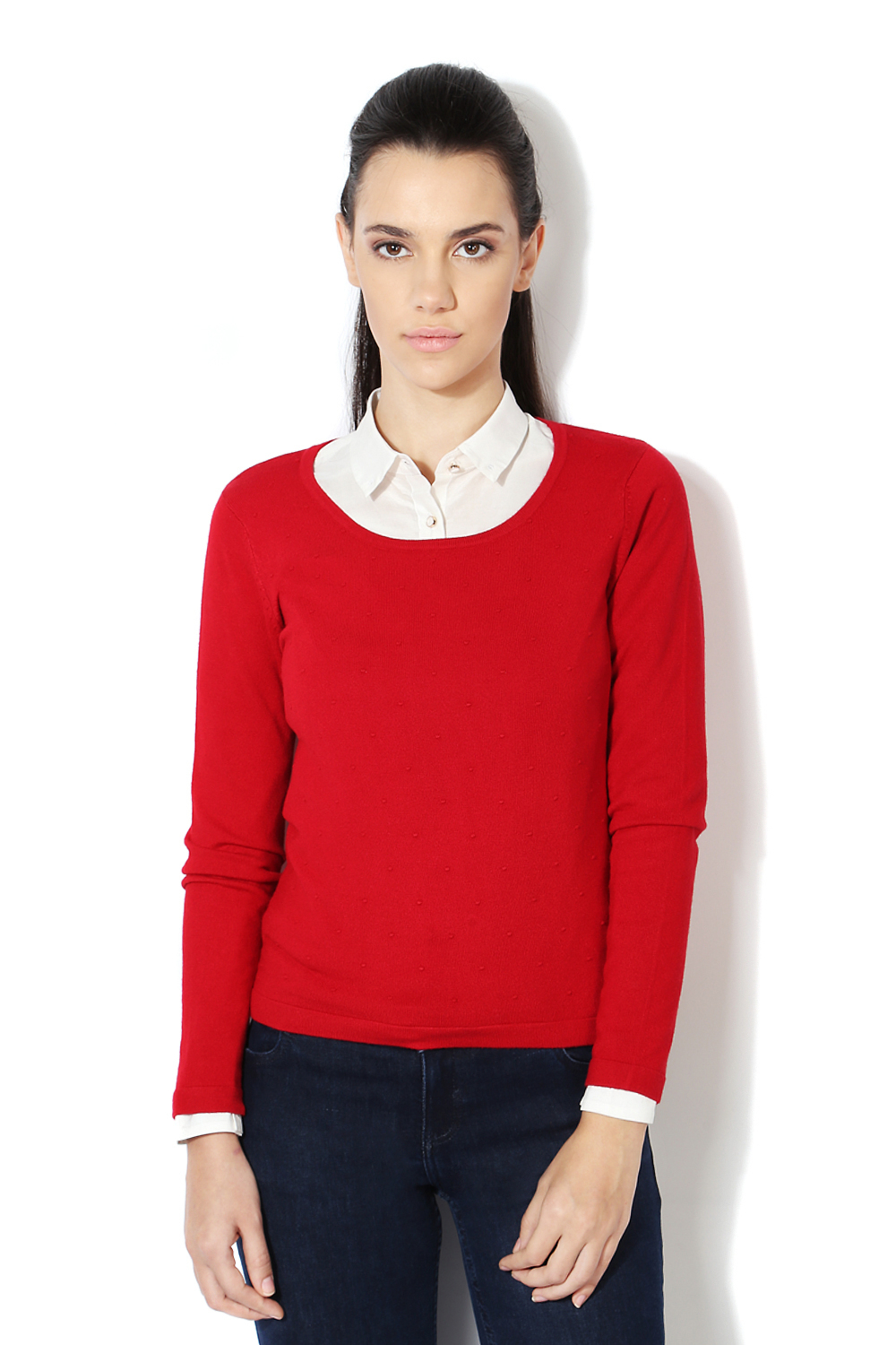 Van Heusen Woman Sweaters & Cardigans, Van Heusen Red Sweater for ...