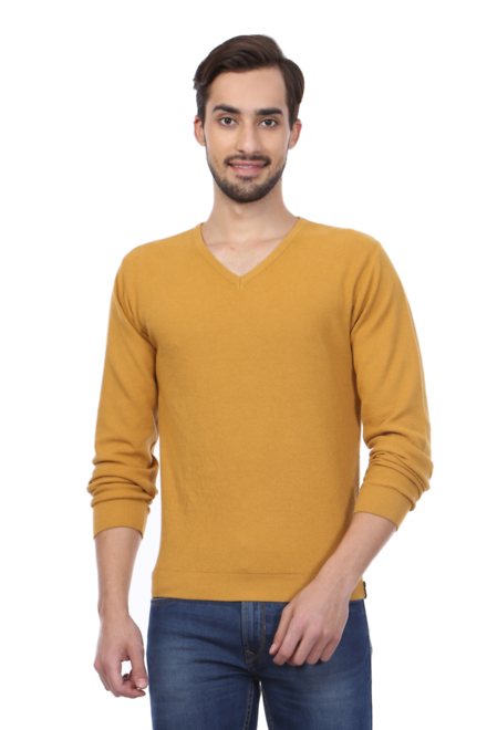 Peter England Sweaters, Peter England Yellow Sweater for Men at  Peterengland.com