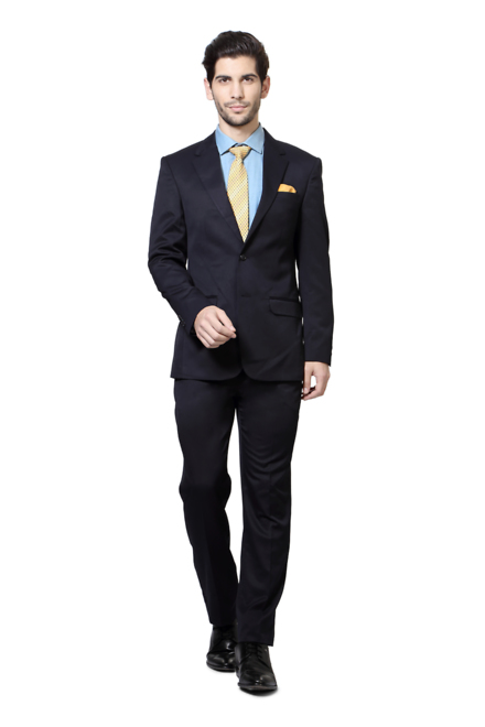 Peter England Navy Two Piece Suit