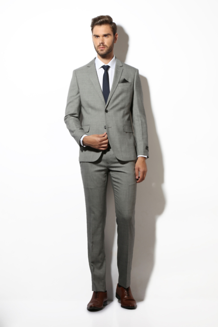 Van Heusen Suits & Blazers, Van Heusen Grey Two Piece Suit for Men
