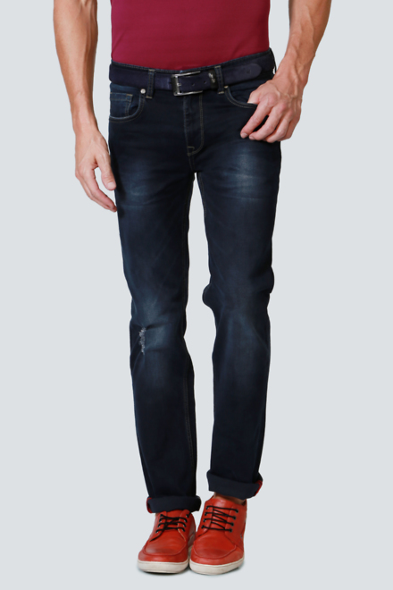 Louis Philippe Navy Jeans