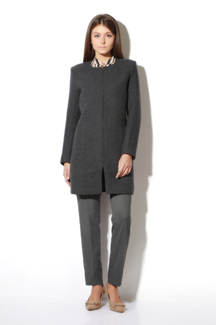 de247b4c6dd Van Heusen Woman Jackets & Overcoats, Van Heusen Grey Overcoat for Women at  Vanheusenindia.com