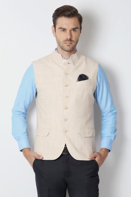 07249b643fffbc Peter England Elite Suits & Blazers, Peter England Beige Waistcoat ...
