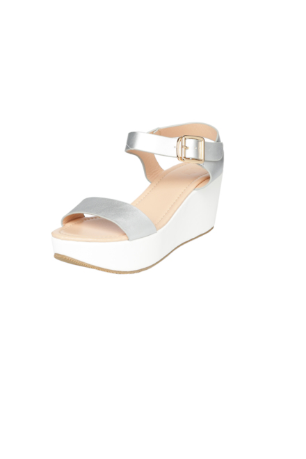 Solly Footwear Allen Solly Silver Wedges For Women At Allensolly Com