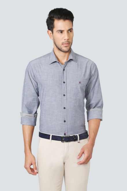 a7cde1feea20c2 LP Shirts, Louis Philippe Greyish Blue Shirt for Men at ...