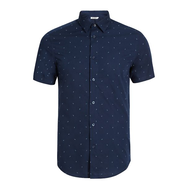 e74b09371e424f Ben Sherman Casual Shirts, Casual Printed Navy Shirt for Men at  Thecollective.in