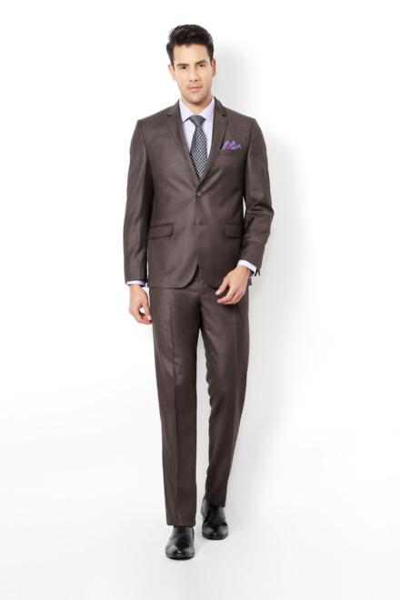 aa94014bfd9 Van Heusen Brown Two Piece Suit
