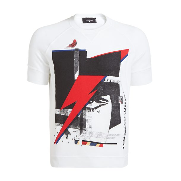 150904a90e1d Dsquared 2 T-Shirts, White Raglan Ziggy T-Shirt for Men at Thecollective.in