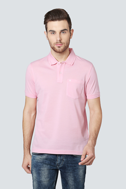 464899613bd -50% Myti Cotton Full Sleeves Round Neck Plain Party And Casual Wear Pink T  Shirt For Men