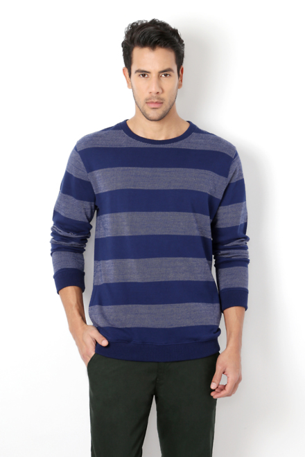 1f1cf50e4345cc Van Heusen Sport Sweatshirts, Van Heusen Blue Sweatshirt for Men ...