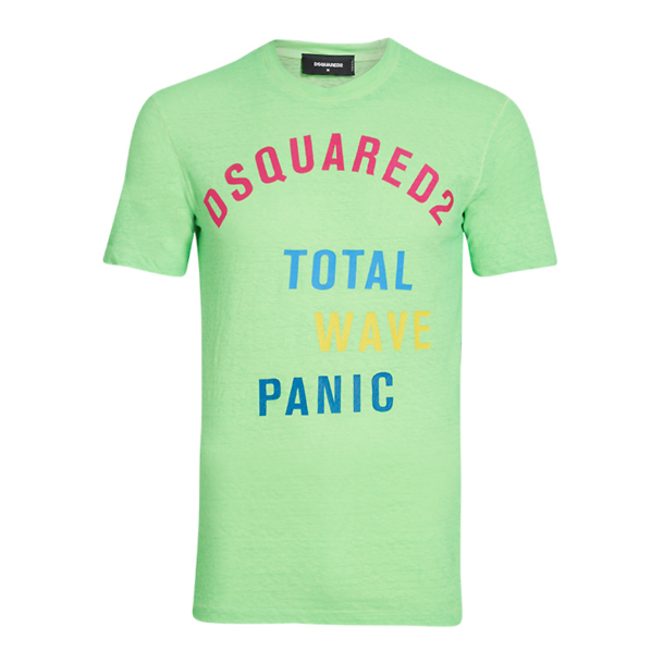 b1d82d66 Dsquared 2 T-Shirts, Green Total Wave Panic Print T Shirt for Men at  Thecollective.in
