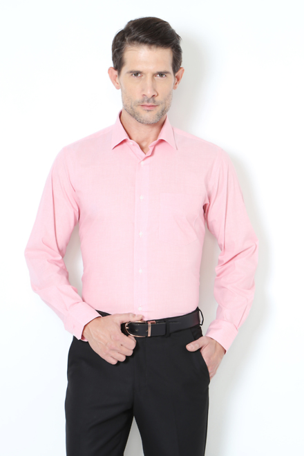 Van Heusen Shirts, Van Heusen Pink Shirt for Men at Vanheusenindia.com
