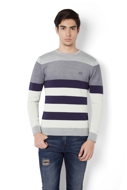 b9bc76752babbf Van Heusen Sport Sweaters, Van Heusen Purple Sweater for Men at ...