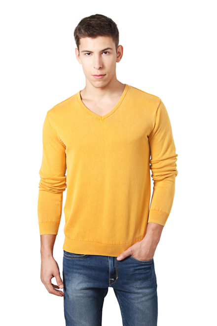 Peter England Casuals Sweaters, Peter England Yellow Sweater for Men at  Peterengland.com