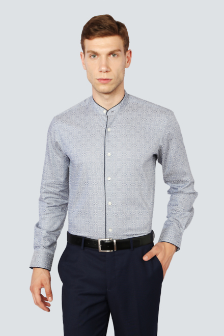 Louis Philippe Shirts, Louis Philippe Grey Shirt for Men at ...