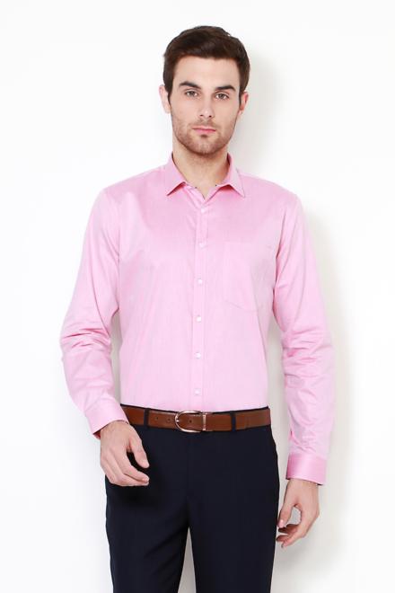 Van Heusen Shirts Van Heusen Pink Shirt For Men At Vanheusenindia Com