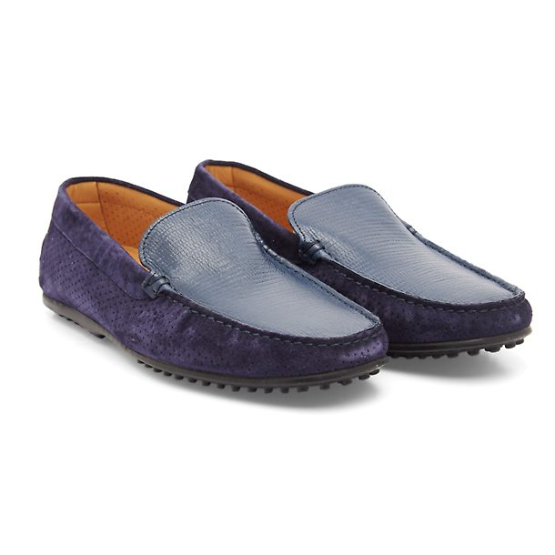 4654e70a3ce46 Patrizio Dolci Shoes, Navy Suede Sides Shoe for Men at Thecollective.in