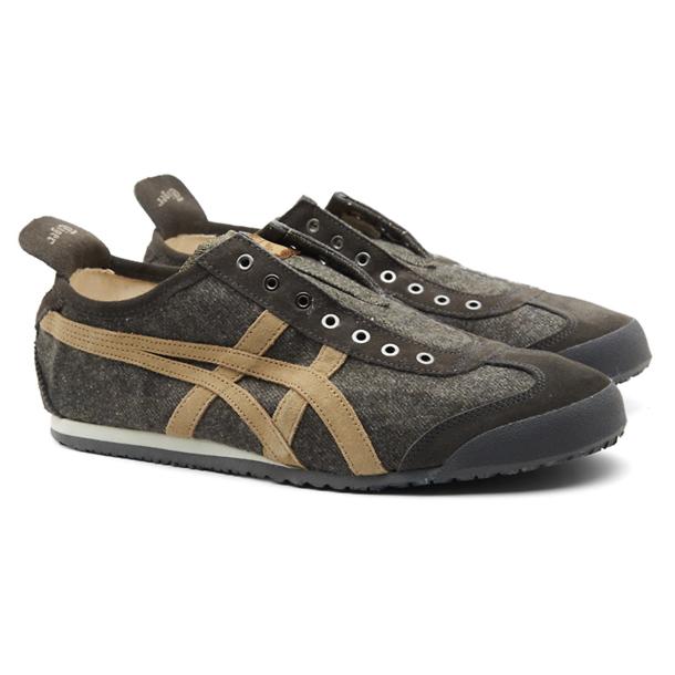 Onitsuka Tiger Shoes, Brown No Lace