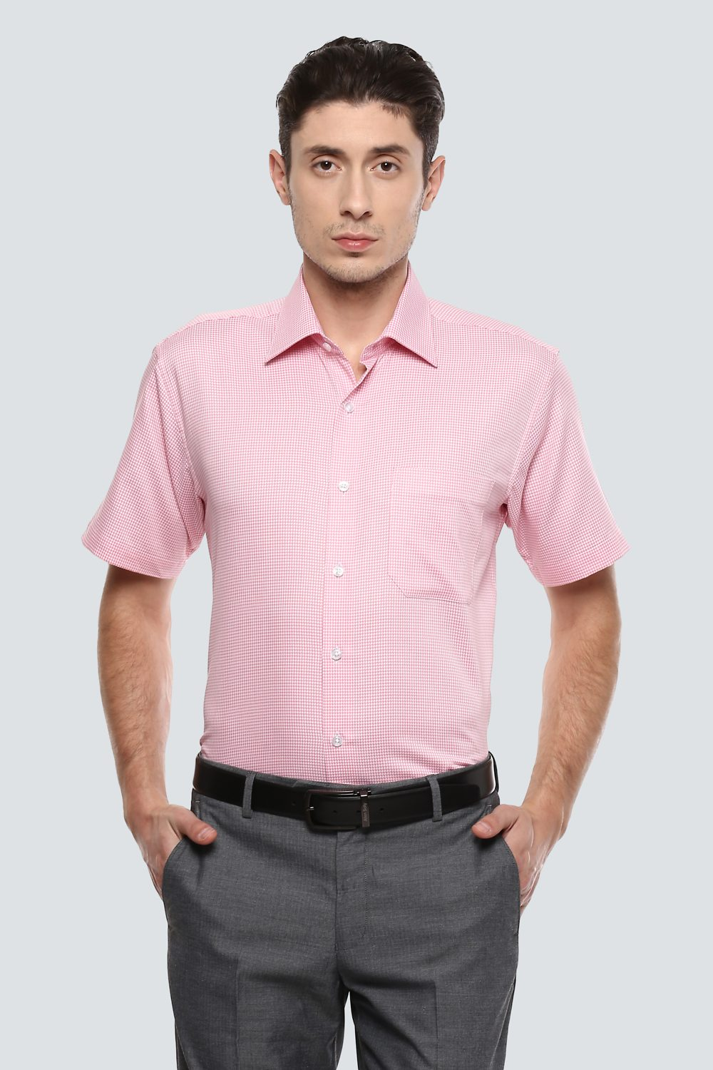 Louis Philippe Shirts Louis Philippe Pink Shirt For Men At