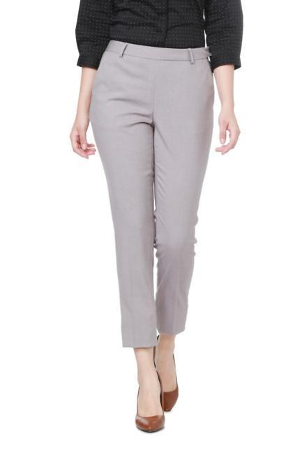 1104565eb0e959 Solly Trousers & Leggings, Allen Solly Grey Trousers for Women at ...