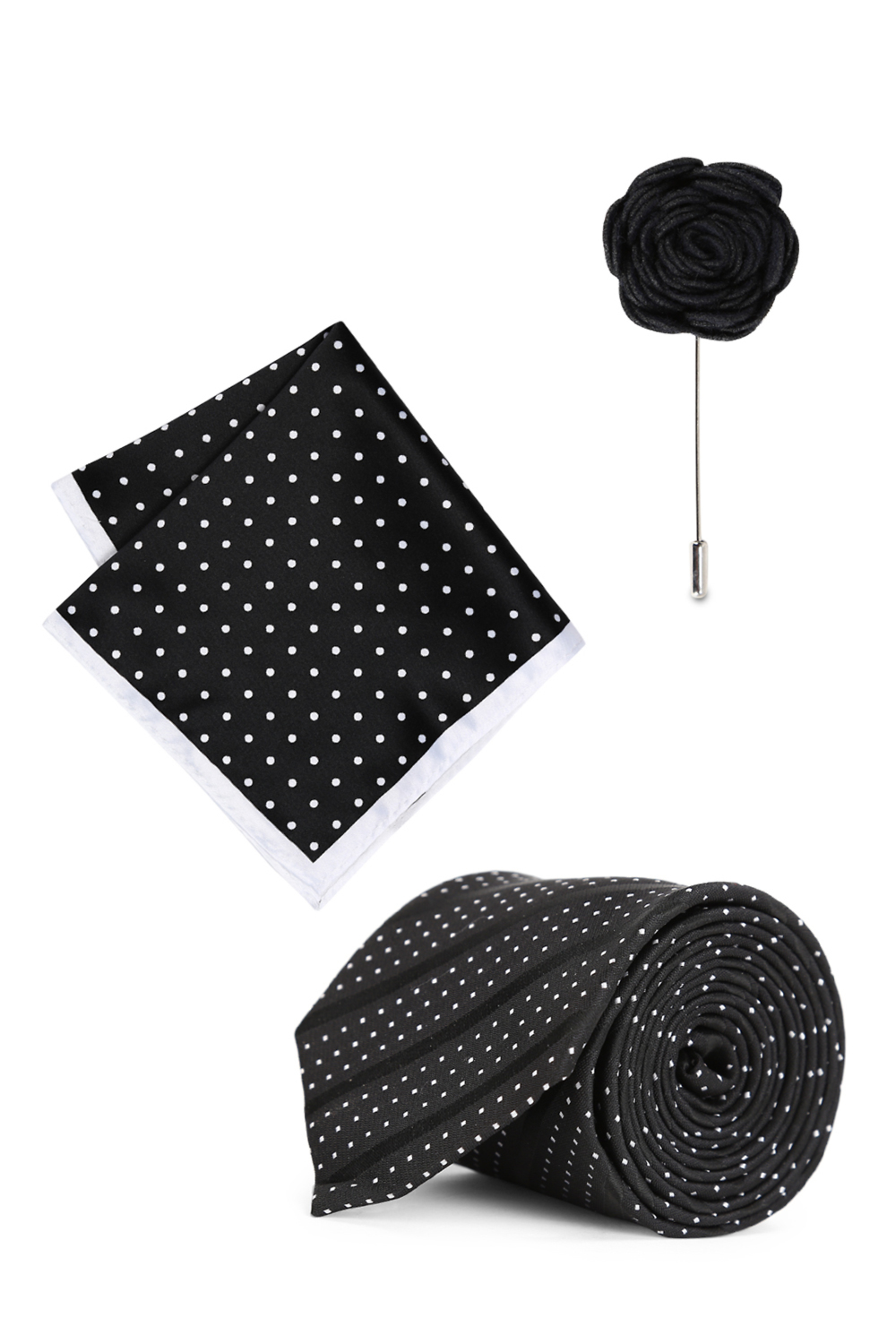 a1bdad54c0a9 Peter England Accessories, Peter England Black Pocket Square Tie And Lapel  Pin for Men at Peterengland.com