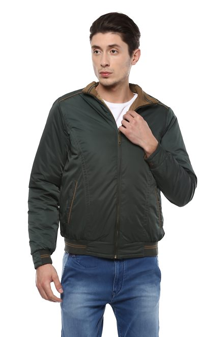 6b3f9c5ce09c3 Allen Solly Jackets, Allen Solly Brown Reversible Jacket for Men at ...