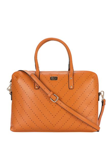181db11a5615 Solly Fashion Accessories, Allen Solly Tan Laptop Bag for Women at  Allensolly.com