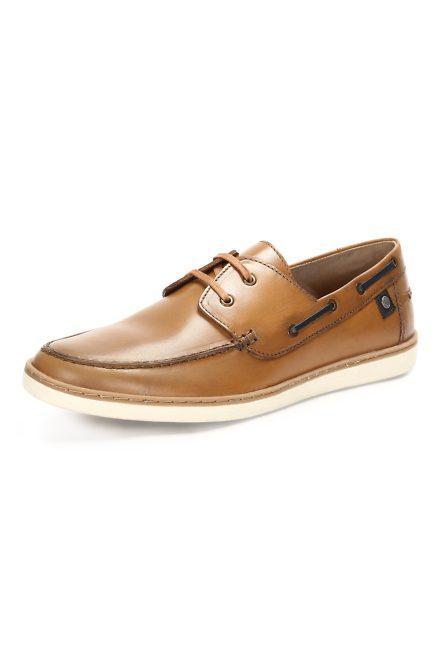 Allen Solly Tan Boat Shoes