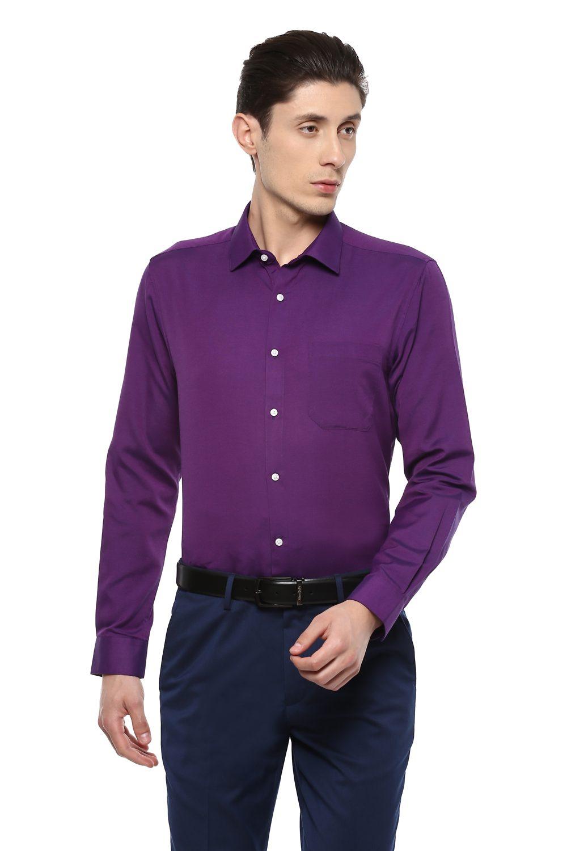 Peter England Shirts, Peter England Purple Shirt for Men at ...