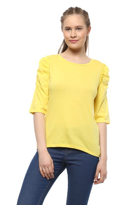 23504a66168d2 People Tees & Tops, People Yellow Top for Women at Peopleonline ...