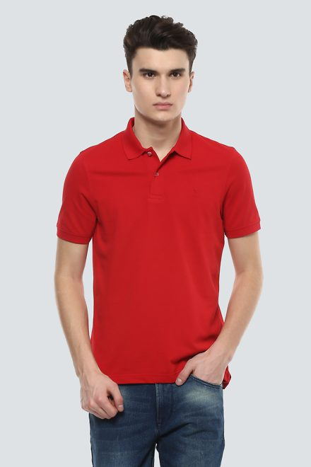 Louis Philippe T-Shirts, Louis Philippe Red T Shirt for Men at ...