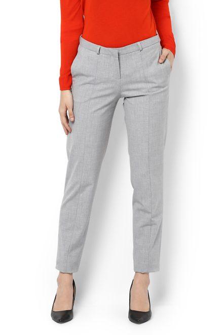 fdb1d41f188aa7 Van Heusen Woman Trousers & Leggings, Van Heusen Grey Trousers for ...