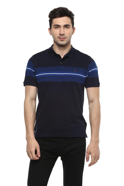 26c1d232 Peter England T-Shirts, Peter England Navy T Shirt for Men at  Peterengland.com