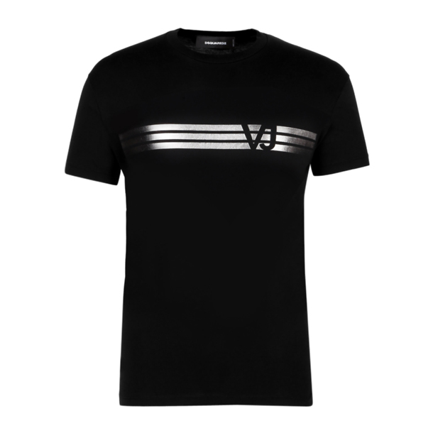 000549dce Versace Jeans T-Shirts, Black Foil Print T-Shirt for Men at Thecollective.in