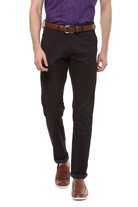 Allen Solly Brown Trousers