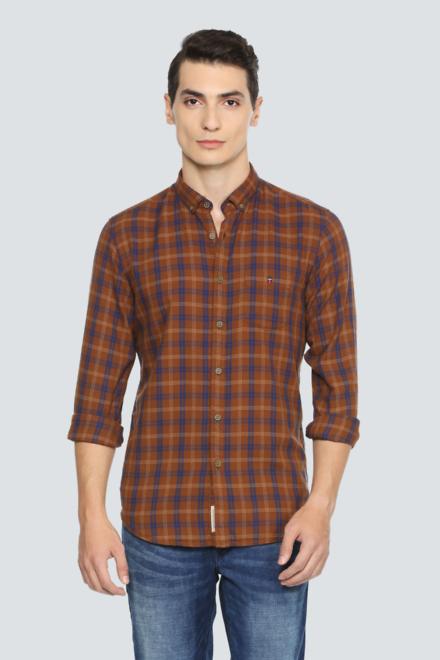 Louis Philippe Brown Shirt