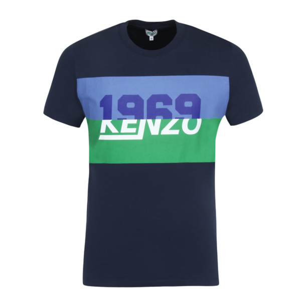 5fa0b9ef Kenzo T-Shirts, Navy Printed T Shirt for Men at Thecollective.in