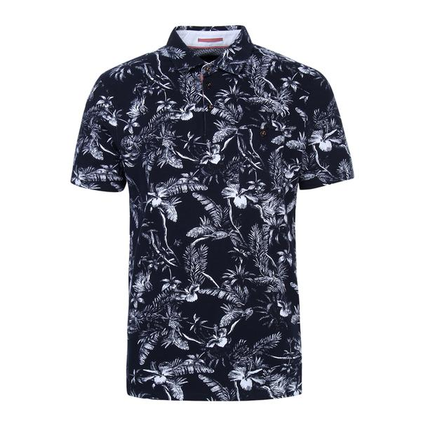 46ddc87c Ted Baker Polos, Navy Floral Print Polo for Men at Thecollective.in