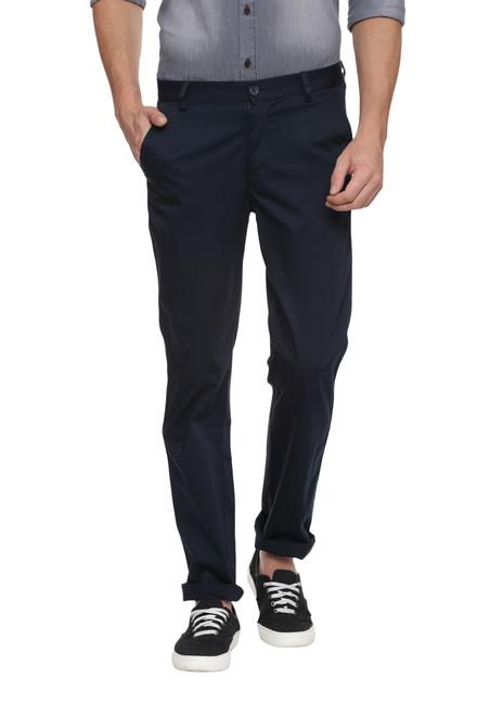 Peter England Navy Trousers