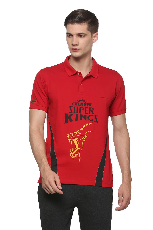 54203d38 Peter England Casuals T-Shirts, Peter England CSK Red Polo T Shirt for Men  at Peterengland.com
