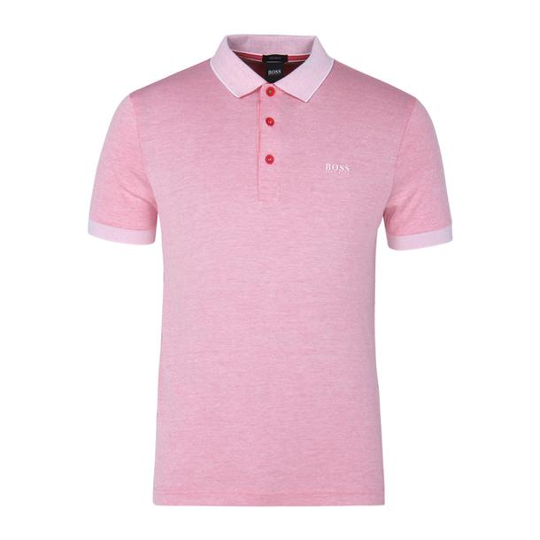 c32163d1 Hugo Boss Green Polos, Pink Self Pattern Polo for Men at Thecollective.in