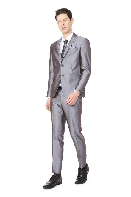 917524924f0 Peter England Grey Two Piece Suit
