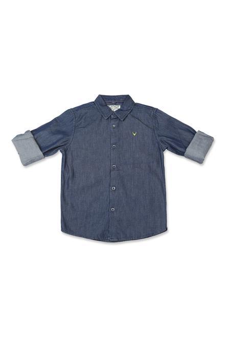2579785bab Allen Solly Junior Shirts & Tees, Allen Solly Navy Shirt for Boys at  Allensolly.com