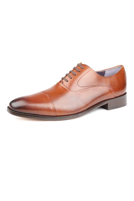 Louis Philippe Tan Formal Shoes for Men