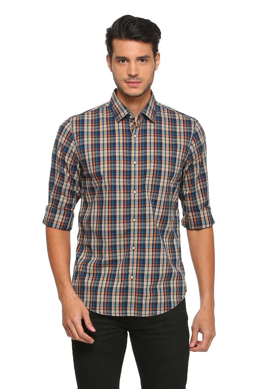 Peter England Casuals Shirts, Peter England Navy Shirt for