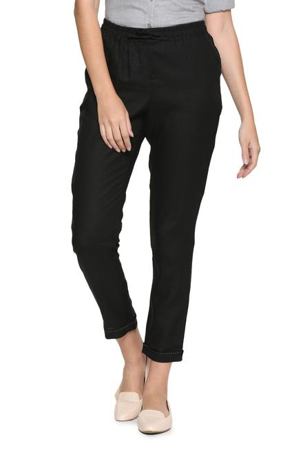 25d44b77ca942a Solly Trousers & Leggings, Allen Solly Black Pants for Women at ...